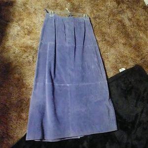 Terry Lewis Leather Skirt (medium)